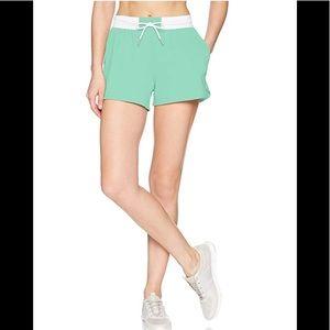 ASICS women's green athletic shorts workout run